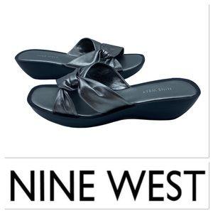 Nine West silver sandals